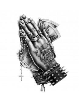 Pray , Money ,God - Tatuaj...