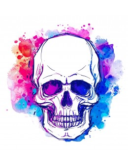 Skull WaterColors - Tatuaj...