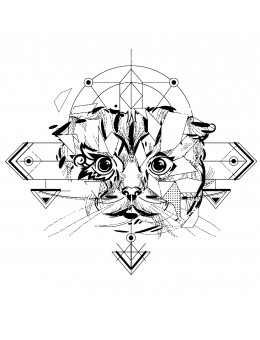 Cute Abstract Cat - Tatuaj...