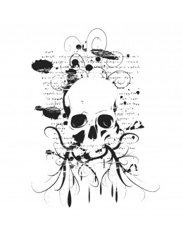 Abstrac Skull & Writings -...
